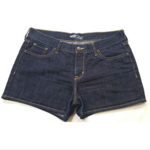 OLD NAVY Women Dark Wash Shorts The Flirt 1052E1